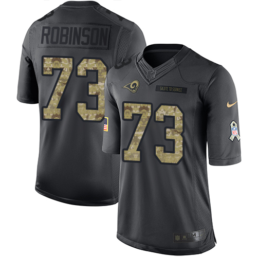Greg Robinson Youth Nike Los Angeles Rams Limited Black 2016 Salute to Service Jersey