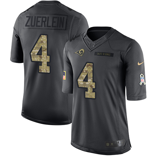 Greg Zuerlein Youth Nike Los Angeles Rams Limited Black 2016 Salute to Service Jersey